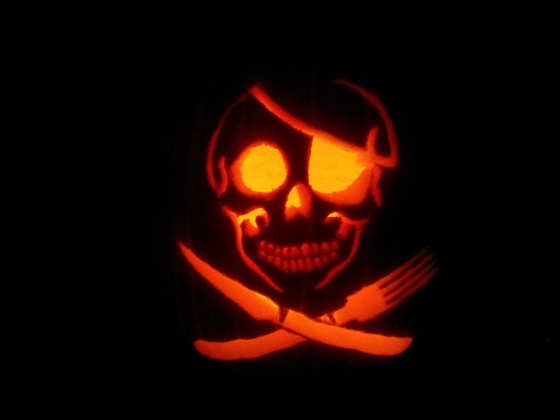 pirate, pumpkin, pirate pumpkin, halloween, dontdigyourgravewithknivesandforks, healthy recipes