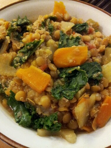 Kale and lentil stew, kale stew, lentil recipe, kale lentil carrots, healthy kale recipe, healthy recipe