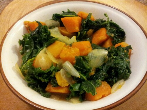 Kale & Sweet Potato Hash, healthy, vegetarian, dinner