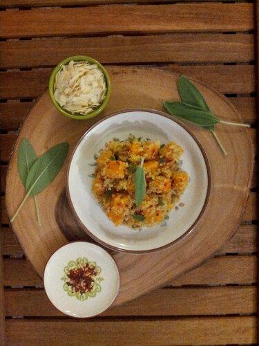 quinoa, pilaf, butternut squash, healthy recipe, healthy food, vegetarian, vegan