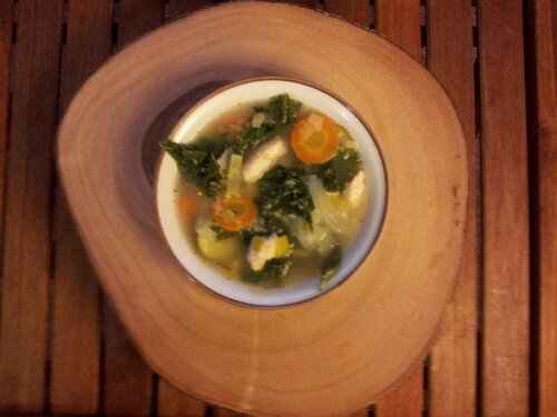 Light Kale Chicken Soup