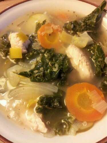 Lemon Kale Chicken Soup