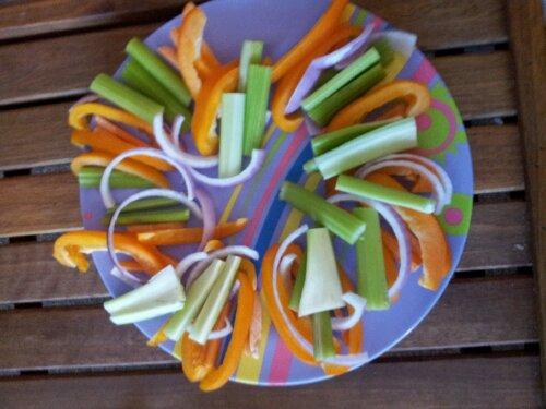 raw, vegan, lettuce wrap fixings