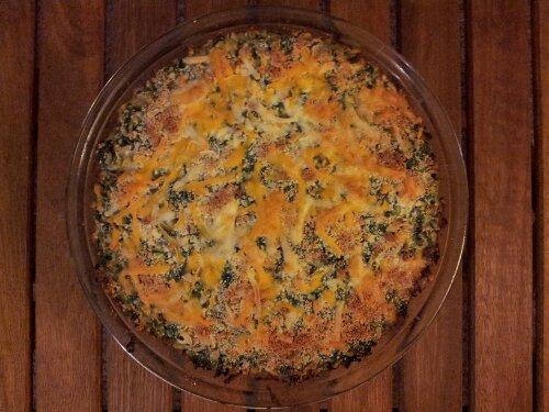 vegetarian spinach and leek pie