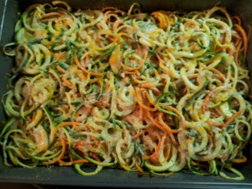 Spiralized veggie bake