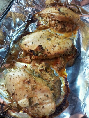 chicken, smashed garlic and apple cider chicken