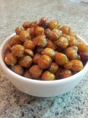 Honey roasted chickpeas