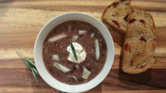 Black Bean and Coffee Soup